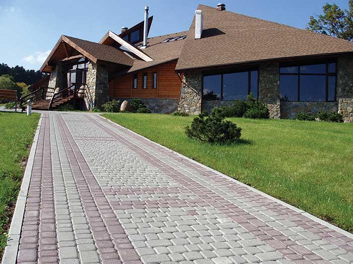 Тротуарна плитка Львівська сіра та червона